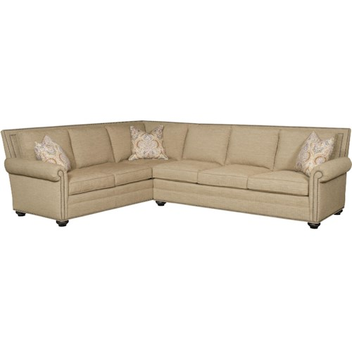 Vanguard Furniture Simpson Traditional Sectional with Rolled Arms