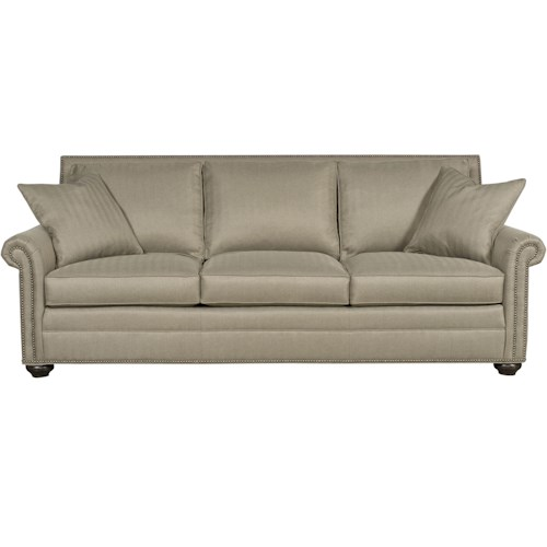 Vanguard Furniture Simpson Traditional Sofa Sleeper with Nail Head Trim
