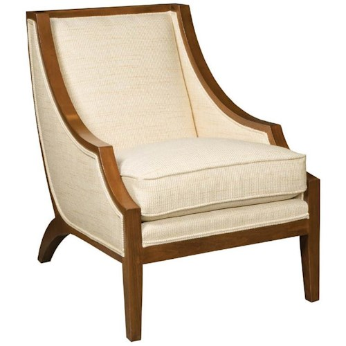 Vanguard Furniture Thom Filicia Home Collection Pompey Transitional Exposed Wood Chair