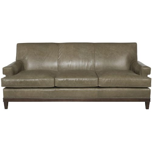 Vanguard Furniture Thom Filicia Home Collection Rugby Road Contemporary Sofa with Key Hole Arms