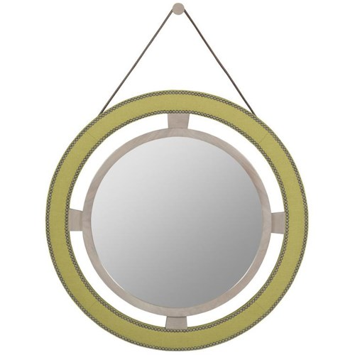 Vanguard Furniture Thom Filicia Home Collection Round Upholstered Wall Mirror