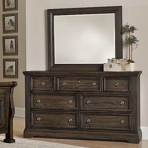 Vaughan Bassett Affinity Traditional Dresser & Landscape Mirror
