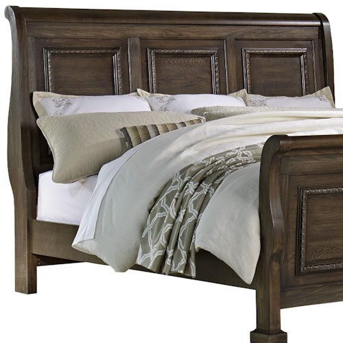 Vaughan Bassett Affinity Queen Sleigh Headboard with Egg-and-Dart Molding