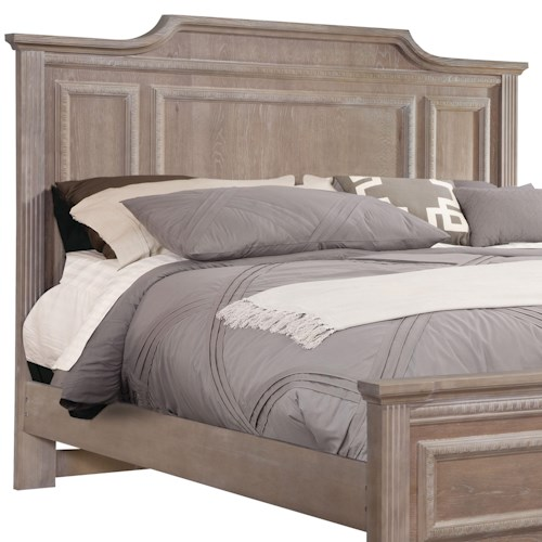 Vaughan Bassett Affinity Queen Mansion Headboard with Egg-and-Dart Molding