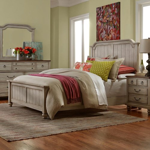 Vaughan Bassett Arrendelle Transitional King Mansion Bed