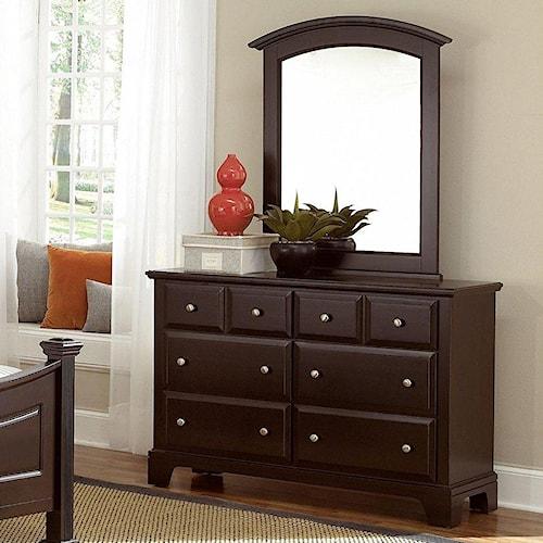 Vaughan Bassett Hamilton Dresser - 6 Drawers & Mirror
