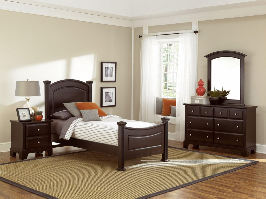 Shown with Panel Bed, Dresser, and Mirror