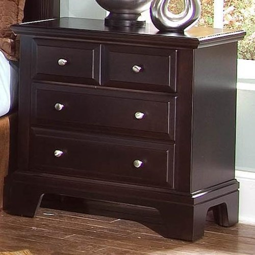 Vaughan Bassett Hamilton/Franklin Night Stand with 2 Drawers