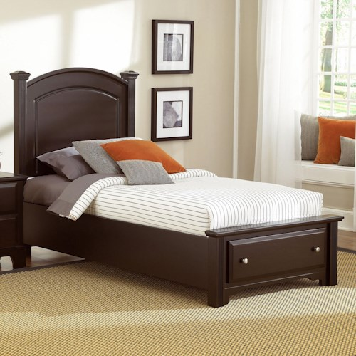 Vaughan Bassett Hamilton/Franklin Twin Panel Storage Bed