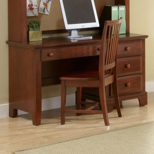 Vaughan Bassett Hamilton/Franklin Single Pedestal Computer Desk