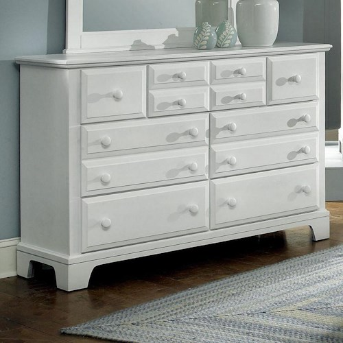 Vaughan Bassett Hamilton/Franklin Triple Dresser with 7 Drawers