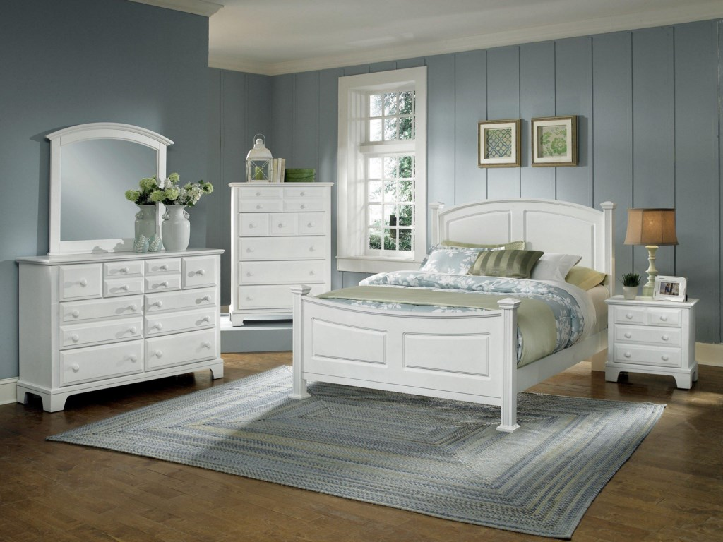Shown with Mirror, Chest, Panel Bed, and Night Stand