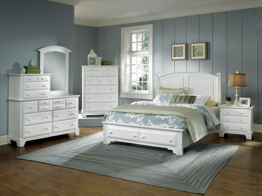 Shown with Vanity Dresser, Mirror, Storage Bed, and Night Stand