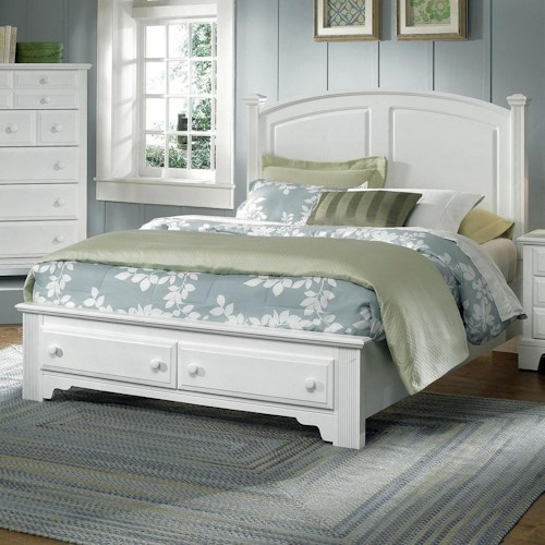 Vaughan Bassett Hamilton Franklin Full Panel Storage Bed