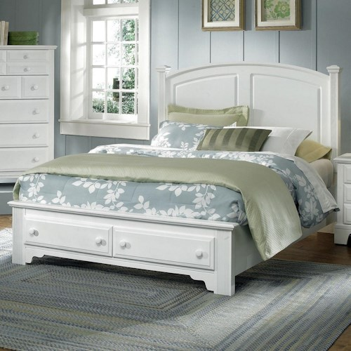 Vaughan Bassett Hamilton/Franklin Queen Panel Storage Bed