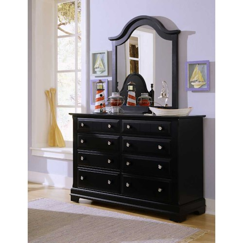 Vaughan Bassett Cottage Double Dresser and Mirror