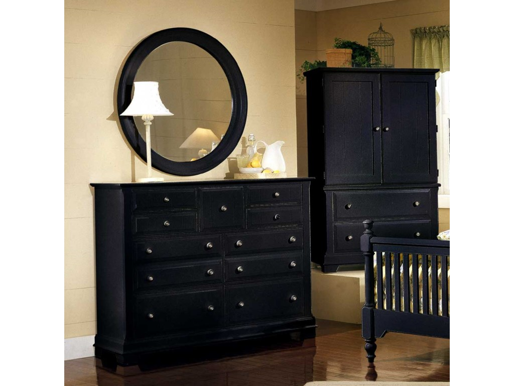 Shown with BB16-447 Round Wall Mirror and BB16-117 Armoire / Entertainment Center