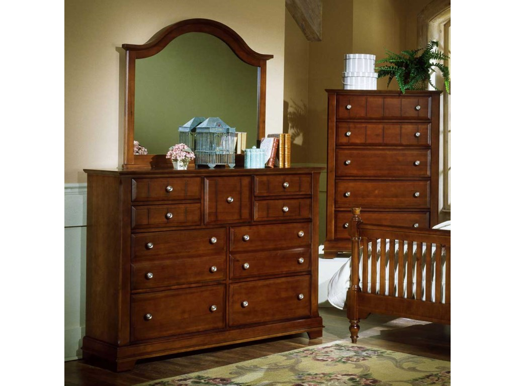 Shown with BB19-446 Landscape Dresser Mirror and BB19-115 Chest of Drawers