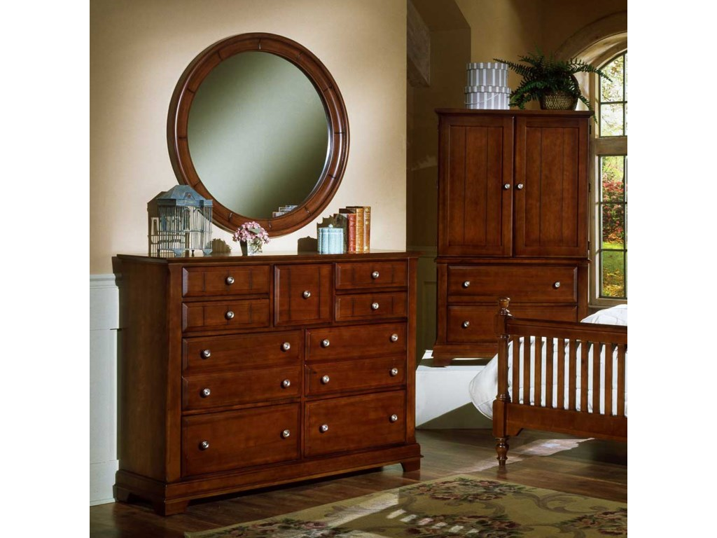 Shown with BB19-447 Round Wall Mirror and BB19-117 Armoire / Entertainment Center