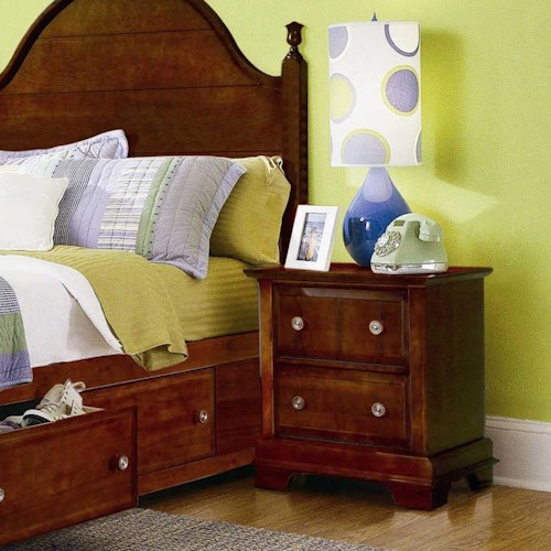 Vaughan Bassett Cottage Two Drawer Nightstand