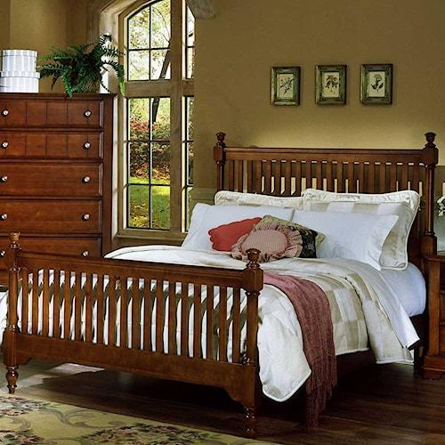 Vaughan Bassett Cottage Queen Slat Poster Bed