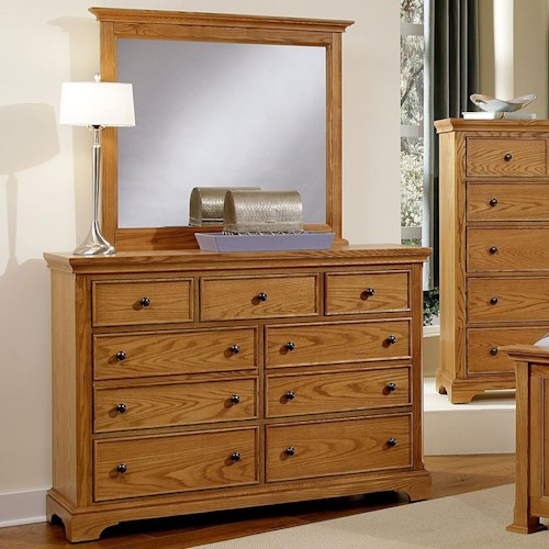 Vaughan Bassett Forsyth 7 Drawer Dresser and Landscape Mirror
