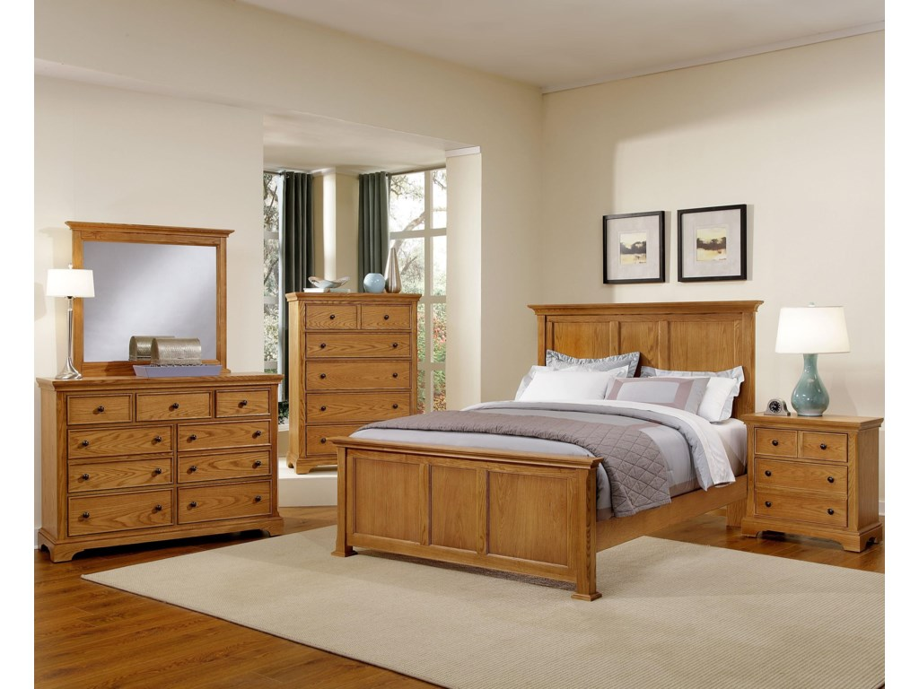 Shown with Night Stand, Panel Bed, and Dresser with Mirror Combination