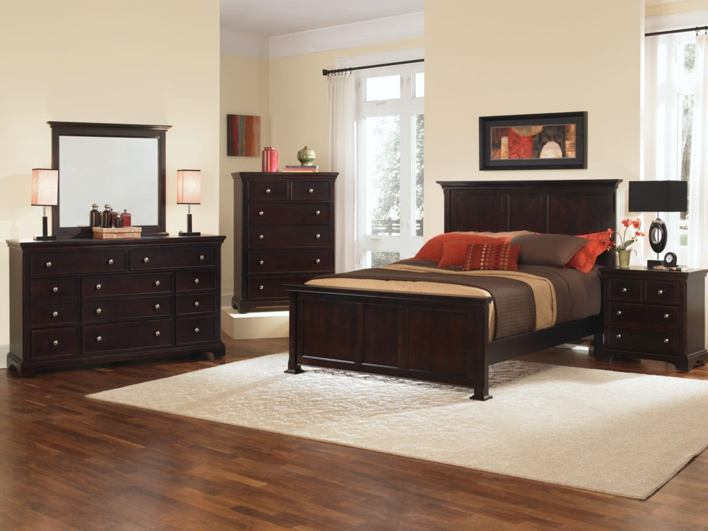 Shown with Mirror, Chest, Panel Bed, and Nightstand