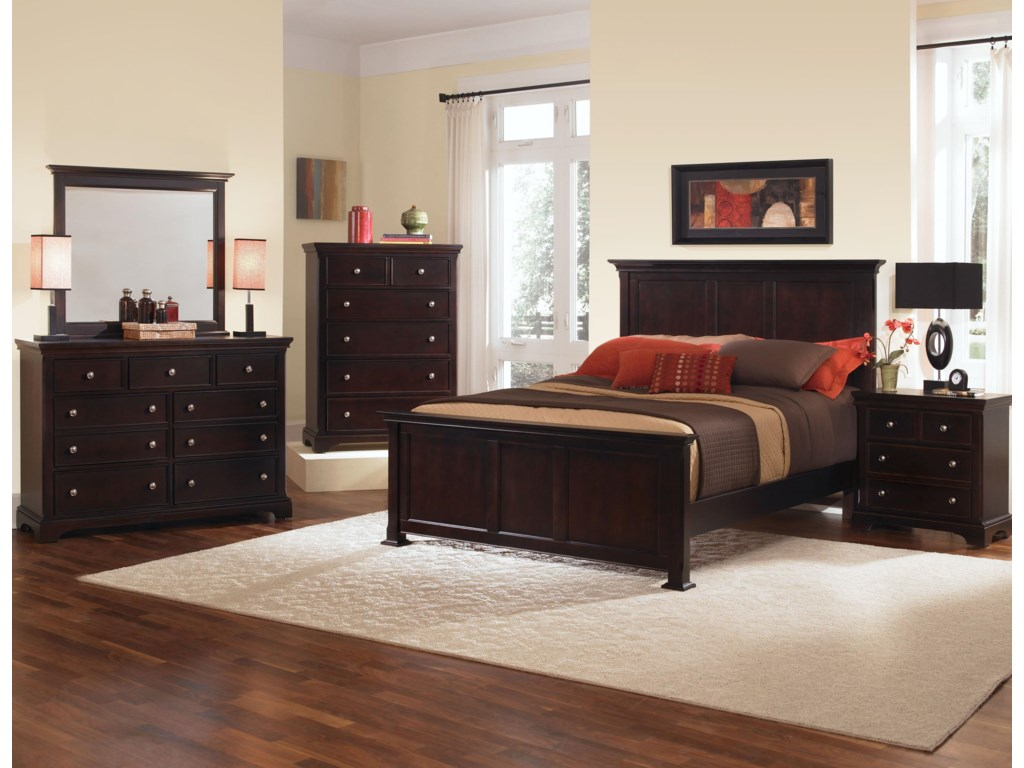 Shown with Coordinating Panel Bed, Night Stand, and Dresser with Mirror Combination