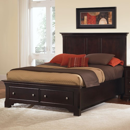 Vaughan Bassett Forsyth Queen Panel Storage Bed
