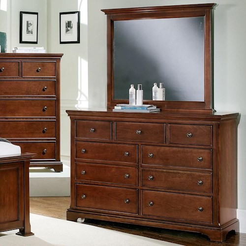 Vaughan Bassett Forsyth 7 Drawer Dresser and Landscape Mirror