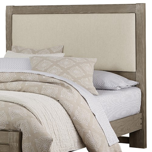 Vaughan Bassett Bedford Queen Upholstered Headboard, Linen Base Cloth