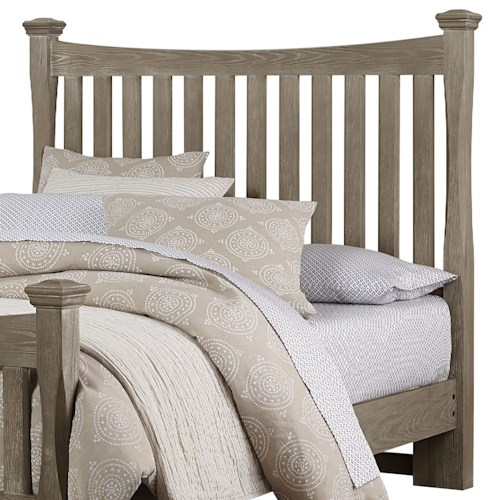 Vaughan Bassett Bedford King Poster Headboard with Slats & Shaped Posts