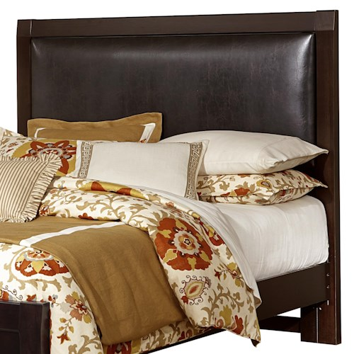 Vaughan Bassett Bedford Queen Upholstered Headboard (Chocolate Bonded Leather)