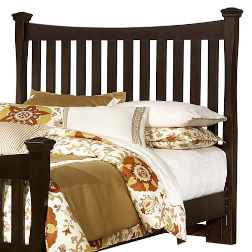 Vaughan Bassett Bedford Queen Poster Headboard with Slats & Shaped Posts