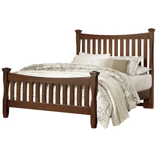 Vaughan Bassett Bedford Queen Poster Bed with Slat Headboard & Footboard