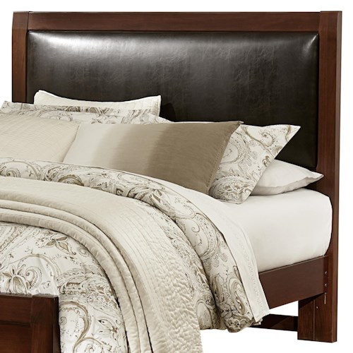 Vaughan Bassett Bedford King Upholstered Headboard (Chocolate Bonded Leather)
