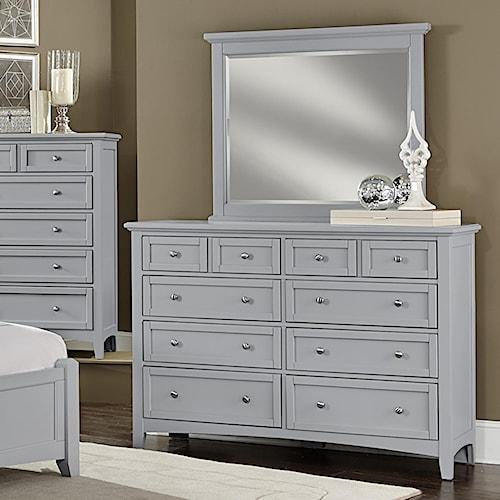 Vaughan Bassett Bonanza Triple Dresser & Landscape Mirror