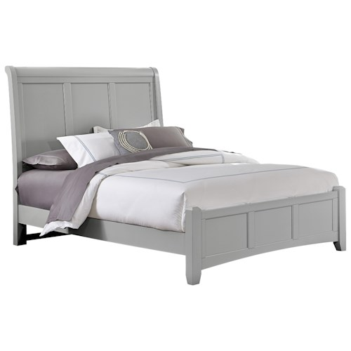 Vaughan Bassett Bonanza King Sleigh Bed with Low Profile Footboard