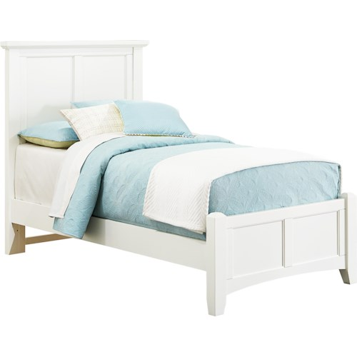 Vaughan Bassett Bonanza Twin Mansion Bed with Low Profile Footboard