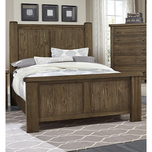Vaughan Bassett Collaboration Rustic King Poster Bed