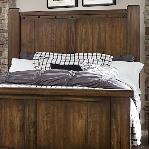 Vaughan Bassett Collaboration Rustic Full/Queen Poster Headboard
