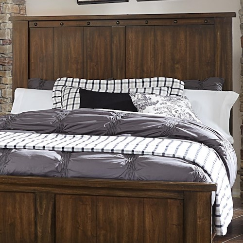 Vaughan Bassett Collaboration Rustic King Panel Headboard