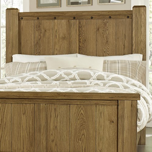 Vaughan Bassett Collaboration Rustic King Poster Headboard