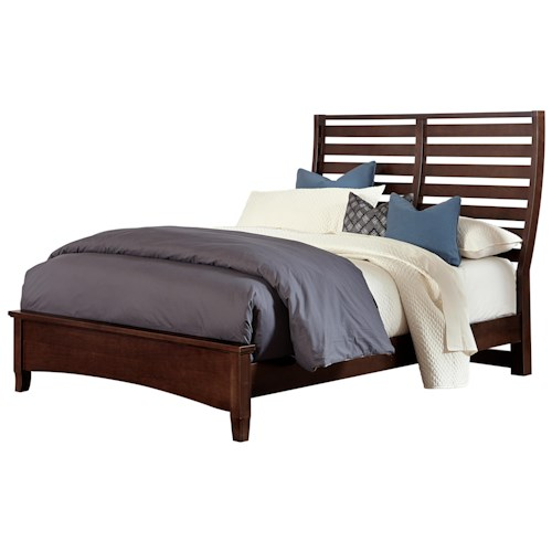 Vaughan Bassett Commentary King Benchback Bed with Low Profile Footboard