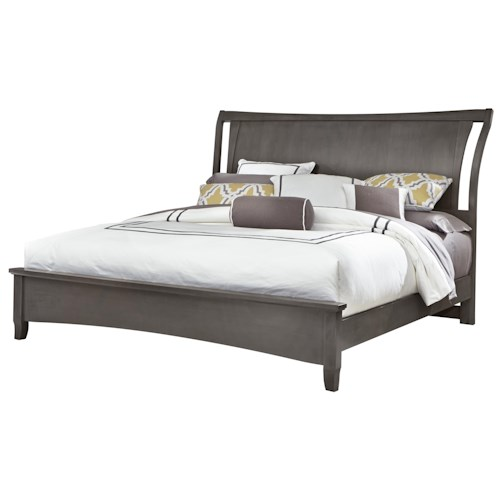 Vaughan Bassett Commentary Full Wing Bed with Low Profile Footboard