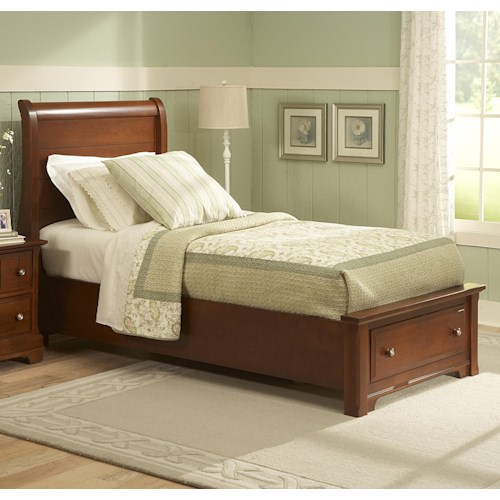 Vaughan Bassett Cottage King Sleigh Storage Bed