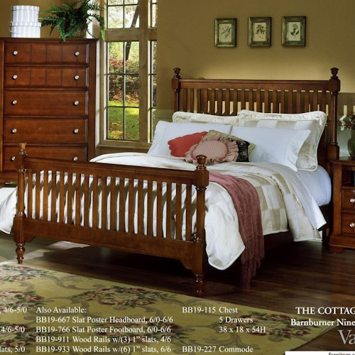 Vaughan Bassett Cottage California King Slat Poster Bed