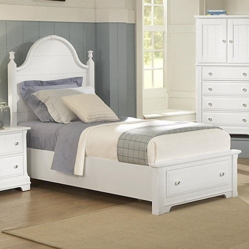 Vaughan Bassett Cottage King Panel Storage Bed