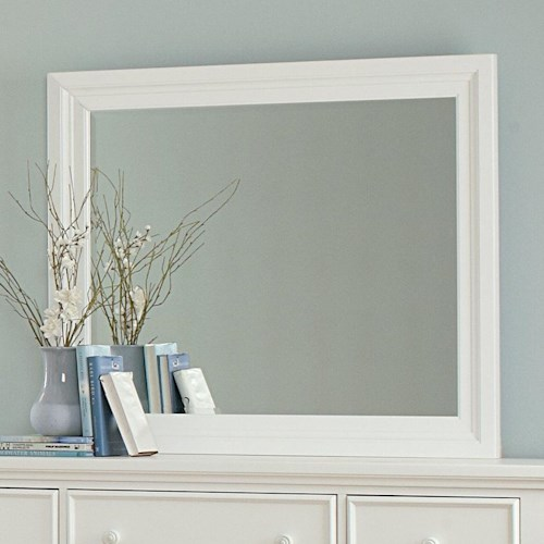 Vaughan Bassett Ellington Landscape Mirror - Bevel Glass
